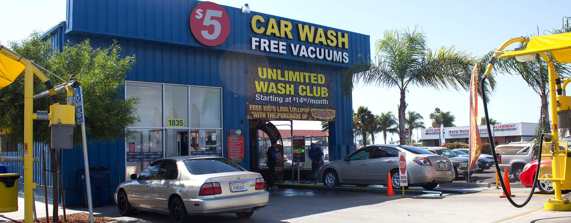 Palm Avenue - Imperial Beach Car Wash 1835 Palm Ave San Diego, CA 92154 HOURS: 7AM - 9PM Everyday
